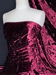 Marble Texture Velvet Lycra 4 Way Stretch Fabric- Wine Q172 WN