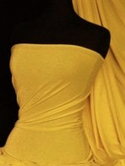 Velvet/Velour 4 Way Stretch Spandex Lycra- Sunflower Yellow Q559 SNF