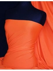 Shiny Lycra 4 Way Stretch  Material - New Orange Q54 OR