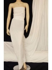 Velvet/Velour Stretch Spandex Lycra Fabric- Ivory Cream Q1174 IVCRM