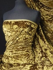 Crushed Glitz Velour/Velvet Woven Interior Fabric- Olive SQ269 OLV