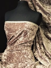 Crushed Glitz Velour/Velvet Woven Interior Fabric- Mink SQ269 MNK