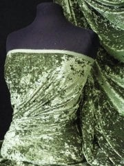 Crushed Glitz Velour/Velvet Woven Interior Fabric- Fern Green SQ269 FGRN