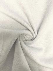 Soft Fine Rib (165 cms) Cotton Elastane 4 Way Stretch Material- Ivory White SQ220 IV