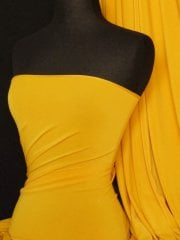Micro Lycra 4 Way Stretch Fabric - Golden Yellow Q259 GLDNYL