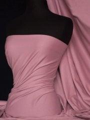 Soft Fine Rib 100% Cotton Knit Material - Dusk Rose Q61 DRS