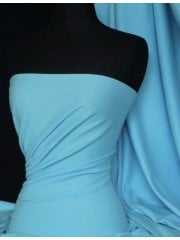 Soft Fine Rib 100% Cotton Knit Material - Baby Blue Q61 BBL