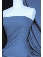 Soft Fine Rib 100% Cotton Knit Material - Petrol Blue Q61 PTBL