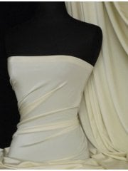 Clearance Shiny Lycra 4 Way Stretch Material- Cream Q54 CRM