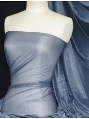 Fine Mesh Sheer Fabric (160 cms Width)- Marl Denim Blue Q1262 MDBL