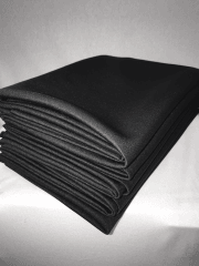 5 PIECES Clearance (1/2 Metre) Scuba Stretch Poly Lycra Fabric Job Lot Bundle- Black JBL120 BK
