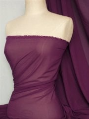 Chiffon Soft Touch Sheer Fabric Material- Mulberry Q354 MLB