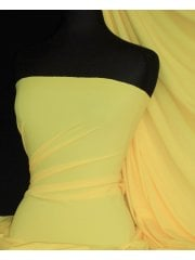 Matt Lycra 4 Way Stretch Fabric- Lemon Q56 LMN