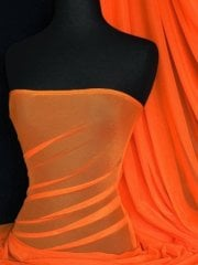 LT Power Mesh 4 Way Stretch Material- Orange 109 LT OR
