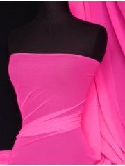 Power Mesh 4 Way Stretch Material- Flo Fuchsia Pink 109 LT FLPN