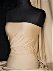 Shiny Lycra 4 Way Stretch Material- Cashmere Q54 CSH
