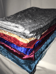 10 PIECES (1/2 Metre) Clearance Crushed Velvet/Velour Stretch Material Job Lot Bundle- Multi JBL139