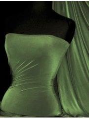Silk Touch 4 Way Stretch Lycra Fabric- Dark Khaki Q53 DKH