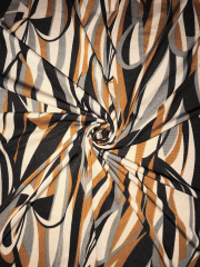 Soft Touch 4 Way Stretch Lycra- Abstract Copper/Black SQ308 CPBK