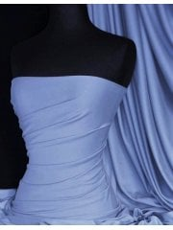 Viscose Cotton Stretch Lycra Fabric- Steel Blue Q300 STBL