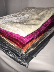 10 PIECES Clearance (1/2 Metre+) Crushed Velvet/Velour Stretch Material Job Lot Pieces- Multi JBL148