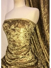 Crushed Glitz Velour/Velvet Woven Interior Fabric- Maize SQ269 MZE