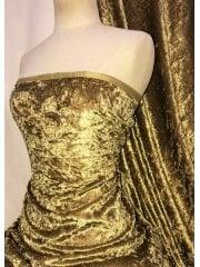 Crushed Glitz Velour/Velvet Woven Interior Fabric- Maize SQ269 MZE
