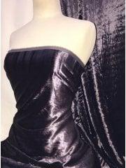 Crushed (Satin Look) Glitz Velour/Velvet Woven Interior Fabric- Plum SQ269 PLM