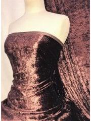 Crushed Glitz Velour/Velvet Woven Interior Fabric- Grape SQ269 GRP