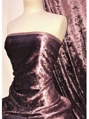 Crushed Glitz Velour/Velvet Woven Interior Fabric- Dusk Rose SQ269 DRS