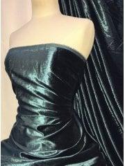 Crushed (Satin Look) Glitz Velour/Velvet Woven Interior Fabric- Teal SQ269 TL