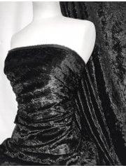 Crushed Glitz Velour/Velvet Woven Interior Fabric- Black SQ269 BK