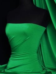 Shiny Lycra 4 Way Stretch Material- Emerald Green Q54 EMGR