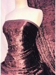 Crushed Glitz Velour/Velvet Woven Interior Fabric- Burgundy SQ269 BRG