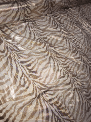4.7 METRES Clearance Lycra Shimmer Printed Stretch Fabric Job Lot Bolt- Champagne/Brown JBL151 CHAMP