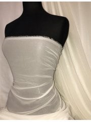Chiffon Shimmer Sheer Material- Ivory SQ319 IV
