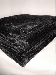10 PIECES Clearance (1/2 Metre+) Crushed Velvet/Velour Stretch Material Job Lot Pieces- Black JBL166 BK