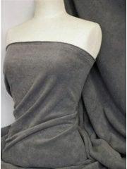 NEW Super Soft Polar Fleece Anti Pill Washable Fabric- Dark Cloud Grey PF DCGR