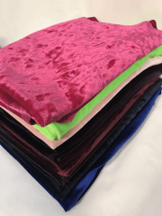 10 PIECES Clearance (1/2 Metre) Velvet 4 Way Stretch Lycra Job Lot Pieces- Multi JBL194