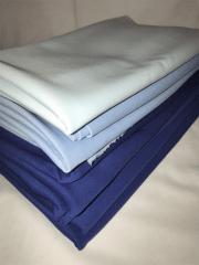 8 PIECES Clearance (1/2 Metre) Scuba Stretch Poly Lycra Fabric Job Lot Bundle- Blue JBL196 BL