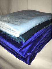 8 PIECES Clearance (50-80cm) Velvet/ Velour 4 Way Stretch Spandex Lycra Job Lot Bundle- Blue JBL206 BL