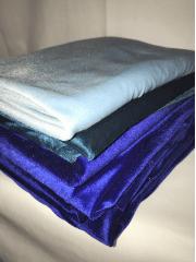 8 PIECES Clearance (50-80cm) Velvet/ Velour 4 Way Stretch Spandex Lycra Job Lot Bundle- Blue JBL206 BL