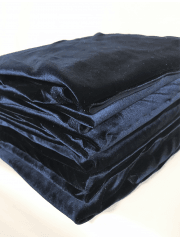 9 PIECES Clearance (50-80cm) Velvet/ Velour 4 Way Stretch Spandex Lycra Job Lot Bundle- Navy JBL215 NY