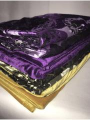8 PIECES Clearance (40-70cm) Velvet/ Velour 4 Way Stretch Spandex Lycra Job Lot Bundle- Plains/Prints JBL216
