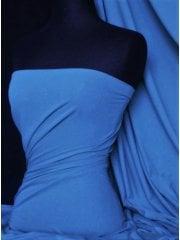 Cotton Lycra Jersey Light Weight 4 Way Stretch Fabric- French Blue Q1140 FBL