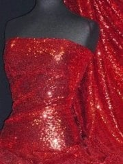 Showtime Fabric All Over Stitched 3mm Sequins- Deep Red SEQ53 DPRD