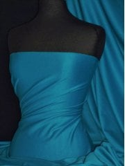 Ponte Double Knit Stretch Jersey Fabric- Teal Q37 TL