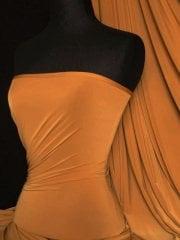 9 PIECES Clearance (1/2 Metre) Silk Touch 4 Way Stretch Lycra Fabric Job Lot Bundle- Mustard JBL270 MST