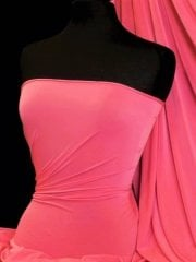 Silk Touch 4 Way Stretch Lycra Fabric- Neon Pink Q53 NPN