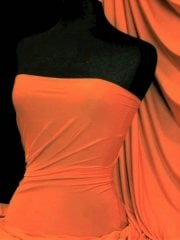 Silk Touch 4 Way Stretch Lycra Fabric- Orange Q53 OR
